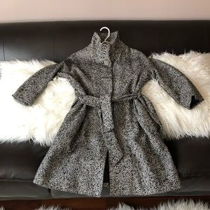 F21 tweed jacket peacoat